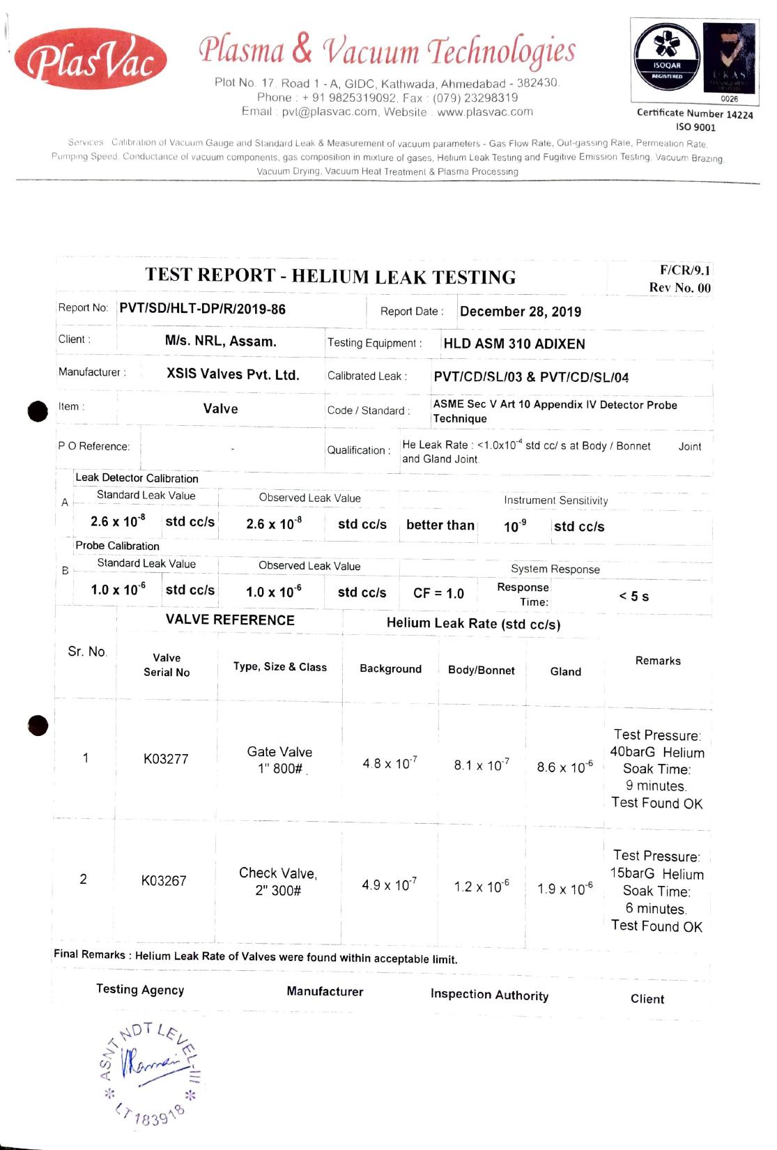 HELIUM LEAK TEST CERTIFICATE2